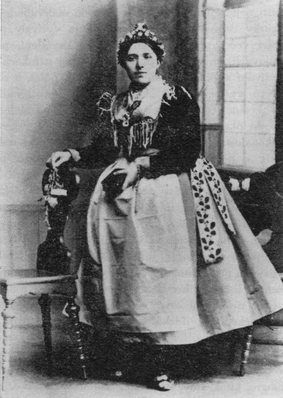 Kroj družičky na svatbě v Tuřanech v roce 1901. 543299927f1